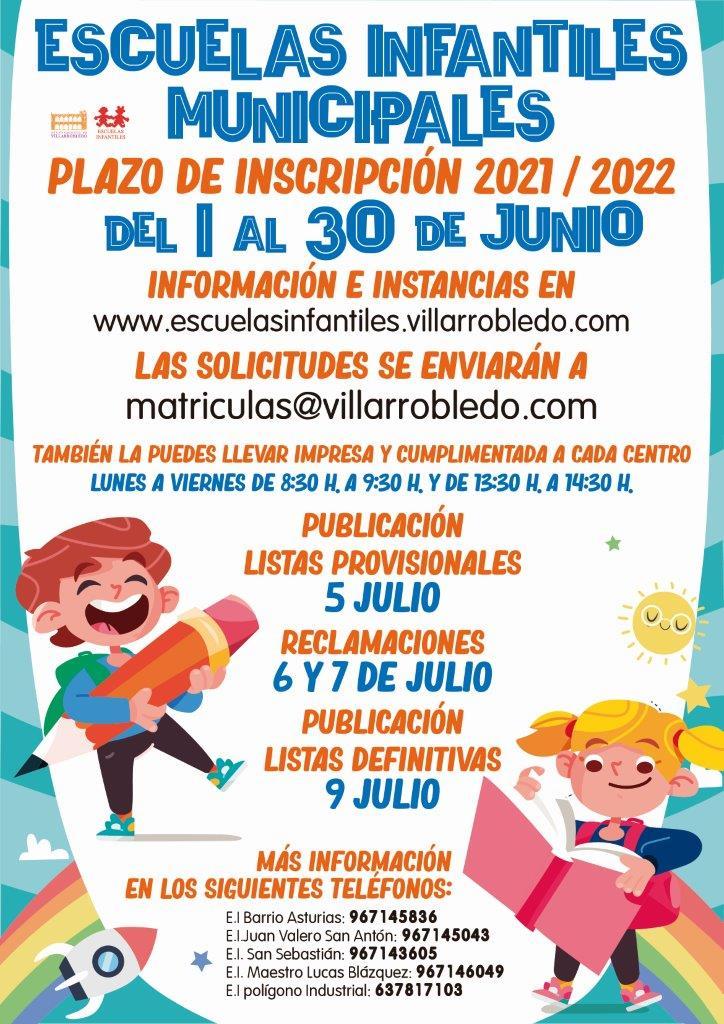 Cartel Inscripciones Curso 2021-2022